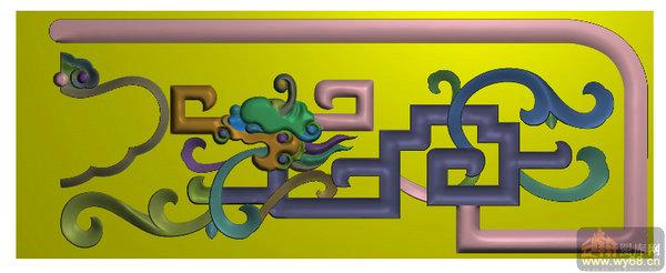 龙纹 勾花-浮雕雕刻图案