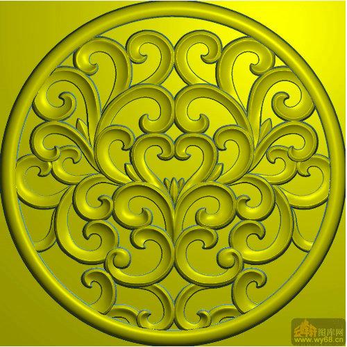 王宫椅背板扬花-家具雕刻图