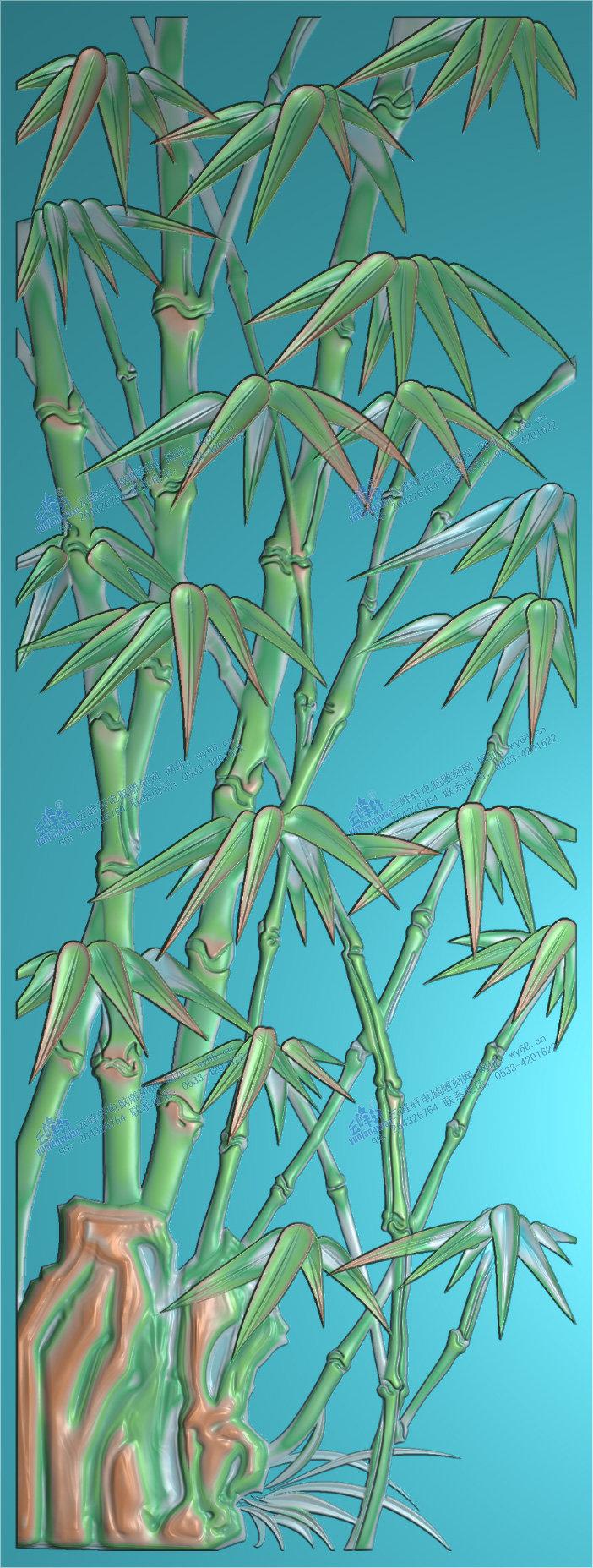 竹子(修改)-精雕图,jpd图,浮雕图,木雕,家具,玉雕图轩