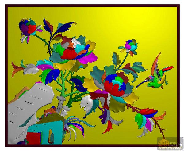 花鸟衣柜小 雕刻图案