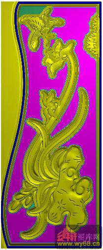 西洋花 莲花 角花-家具雕刻素材