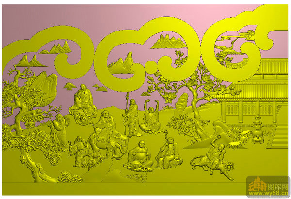 首页 电脑雕刻精雕图系列 (11)-雕刻图案,雕刻图,精雕系列        上