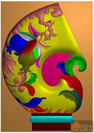 石榴花纹-精雕图案