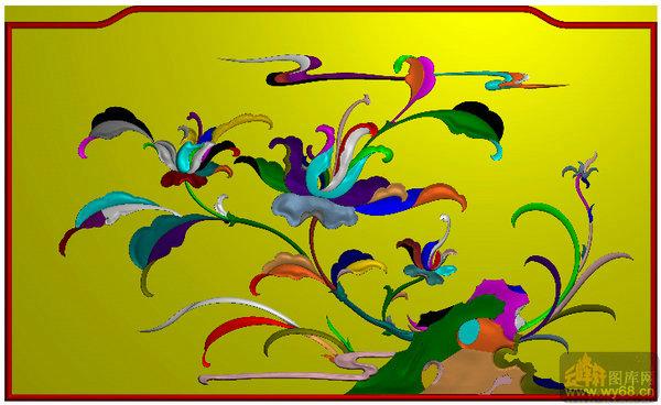 洋花 靠背中间花板-雕刻素材   下一页:鹅蛋圆 花纹 靠背-北京精雕