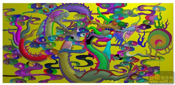 龙戏珠 祥云-雕刻图案