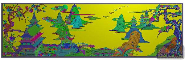 下一页:山水衣柜 凉亭-雕刻图案   文件名称: 山水衣柜 梅花 松树