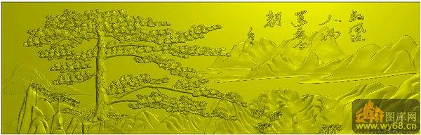 迎客松挂屏-北京精雕图   下一页:祥云 仙鹤 迎客松-家具雕刻素材