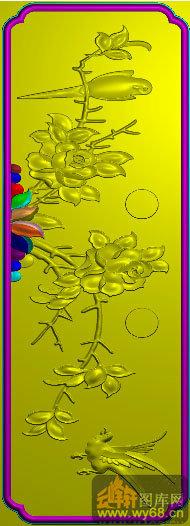 花鸟 月季抽斗-雕刻素材