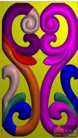 洋花 花纹 战国餐台主椅扶手撑头-家具雕刻素材