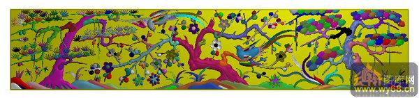 仓板 梅花树 松树-家具雕刻素材