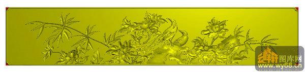 牡丹花 鸟 仓板-北京精雕图