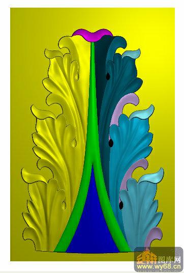树叶雕画-叶子 浮雕雕刻图案