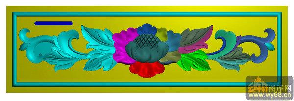 牡丹花-雕刻机雕刻图案
