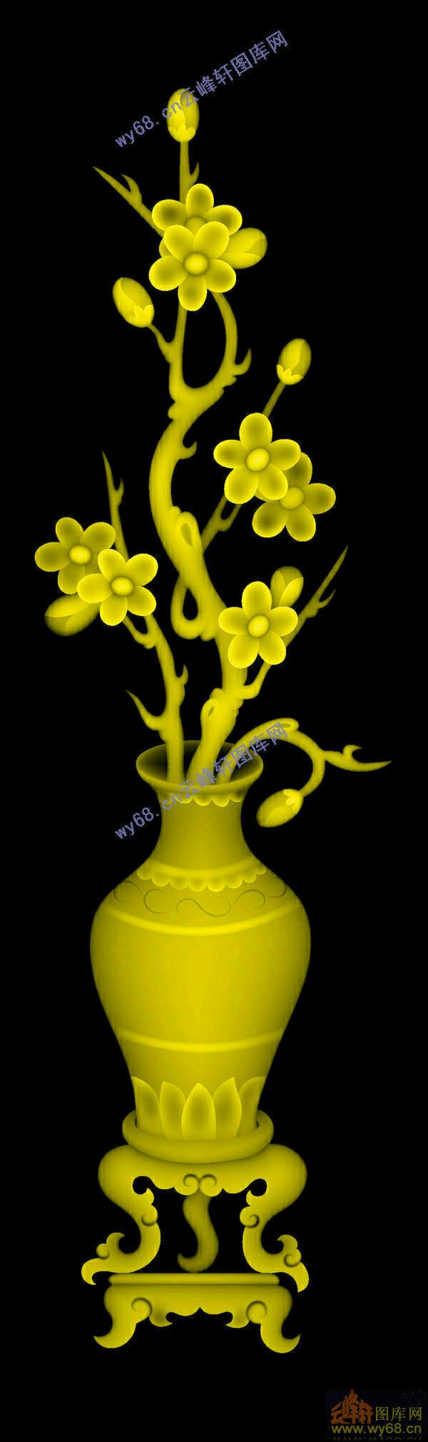 花瓶 梅花 图片展示