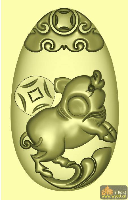 平面雕刻图案小猪图片