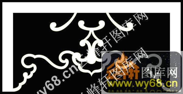 洋花皇宫椅靠背板-欧式家具精雕素材