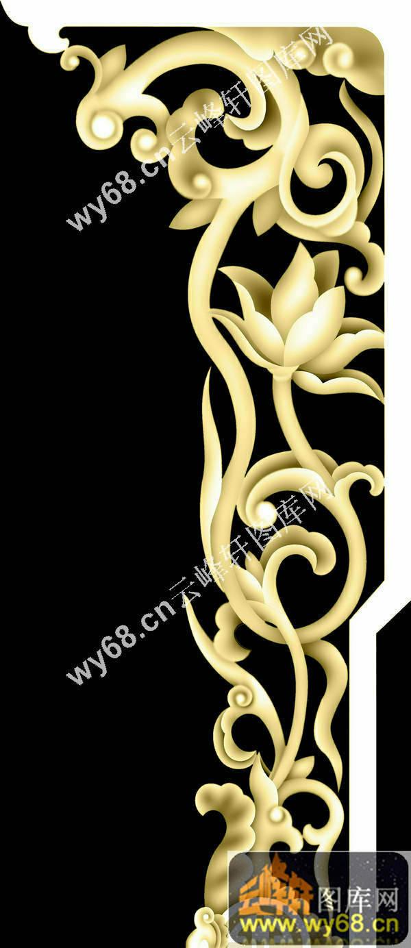 洋花藤-浮雕雕刻图案