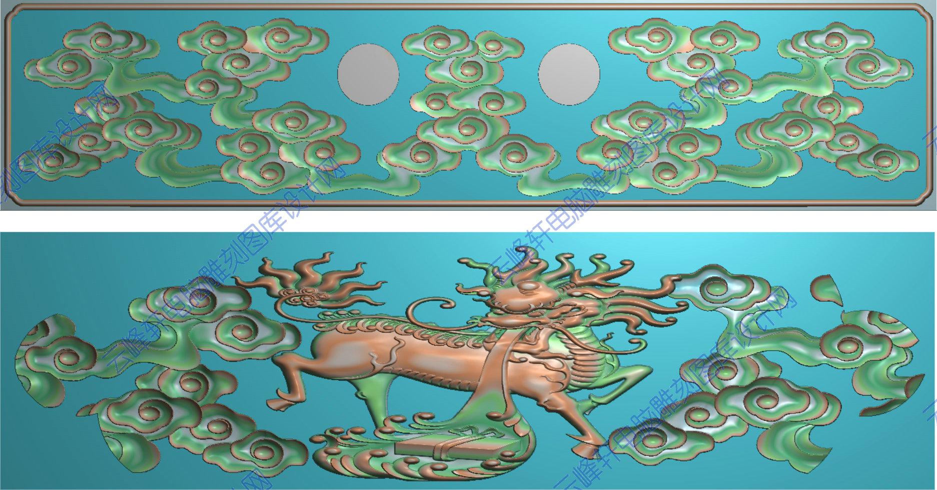 首页 3d,精雕图,玉石家具雕刻图系列 麒麟  本页编号:30104 图案类形