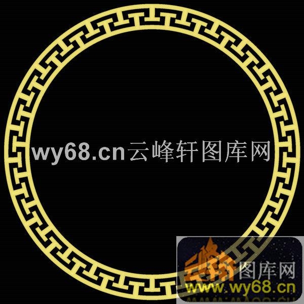 圆形长城纹-明清家具雕刻雕刻素材