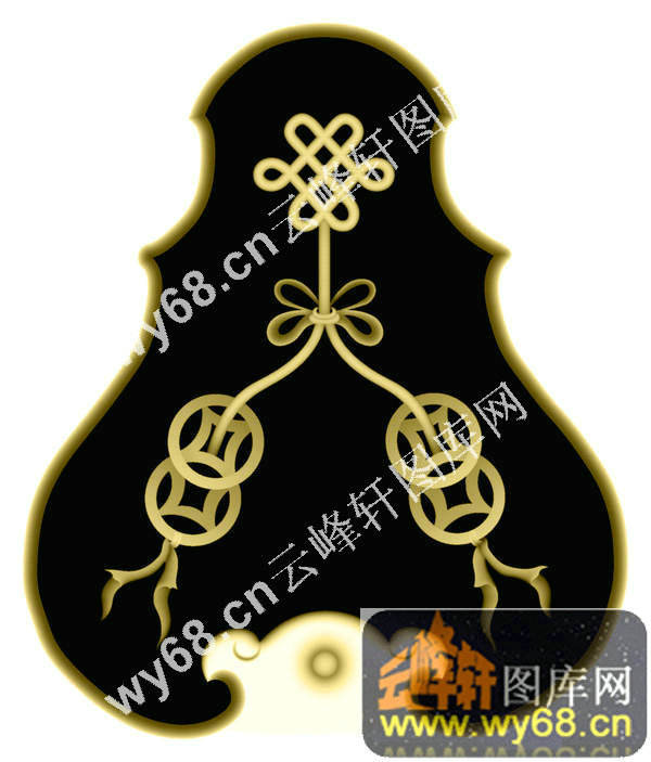 中国结铜钱-明清家具精雕图案图片
