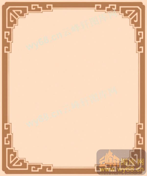 回字纹边框-中式家具精雕素材图片
