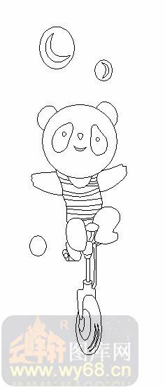会骑自行车的动物的简笔画
