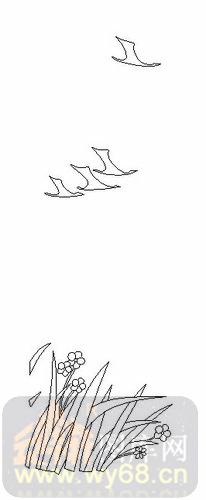 海鸥手绘简笔画