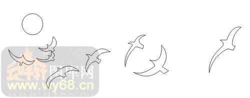 海鸥简笔画可爱