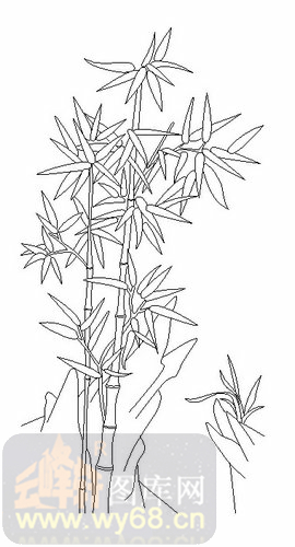 竹子简笔画步骤大全图片