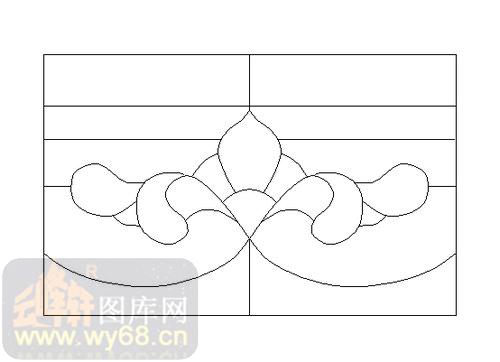 喷砂玻璃-12镶嵌-几何花纹-00182