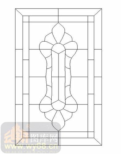 喷砂玻璃图库-12镶嵌-欧式花纹-00080