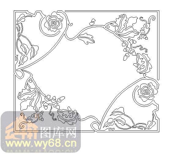 19天花-艺术边框-00023-装饰玻璃