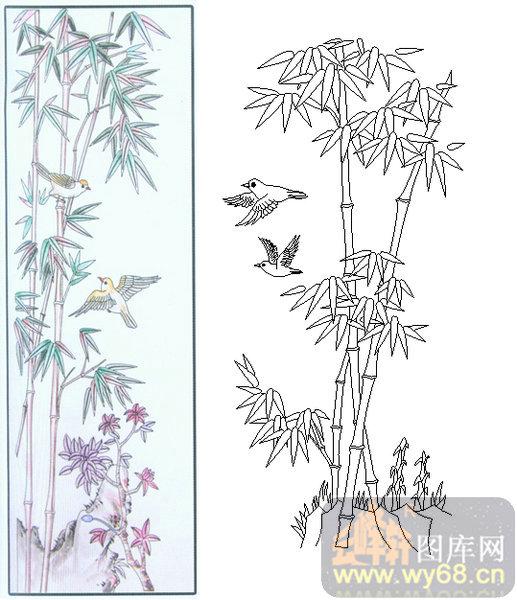 竹海简笔画 - 蜀兰竹海图片 (517x600)-竹林摄影图 自然风景