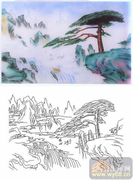 24风景-椰树-00006-玻璃雕刻