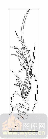 铅笔兰花的简笔画步骤