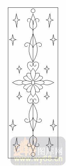 雕刻玻璃图案-09装饰几何门心-花纹-00109