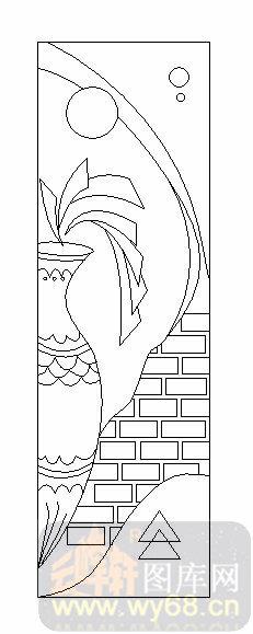 14抽象装饰门1-花瓶-00193-艺术玻璃