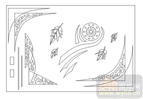 16抽象装饰屏风-叶子-00025-艺术玻璃图库