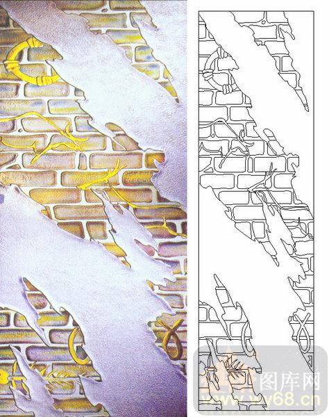 05肌理雕刻系列样图-祥龙-00121-喷砂玻璃