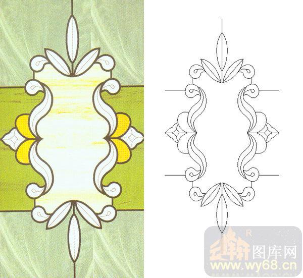 06欧式装饰系列样图-花纹-00017-雕刻玻璃图案