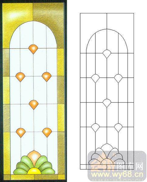 10几何镶嵌-2-欧式花纹-00009-雕刻玻璃图案