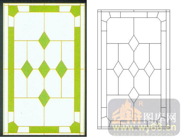 09几何镶嵌-1-欧式花纹-00106-喷砂玻璃