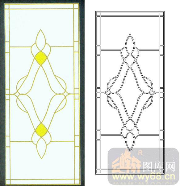 10几何镶嵌-2-艺术花纹-00079-玻璃门
