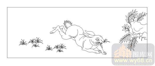 03动物系列-奔跑-00028-雕刻玻璃图案