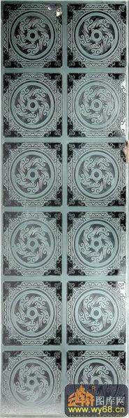 南方深雕玻璃图库-古风韵-00094-玻璃门样本