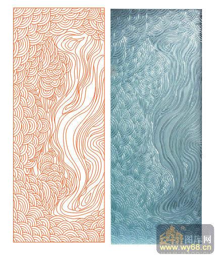 欧式抽象几何-传统花纹-00074-雕刻玻璃图案