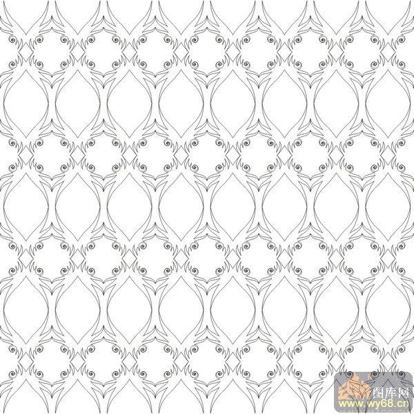 欧式抽象几何-艺术花纹-00005-雕刻玻璃