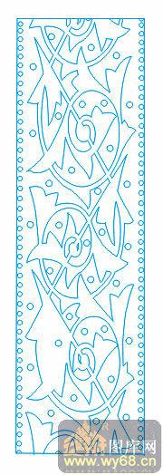 欧式抽象几何-简约花纹-00139-喷砂玻璃图库