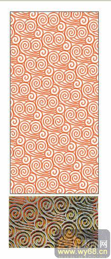 欧式抽象几何-祥瑞花纹-00079-喷砂玻璃图库