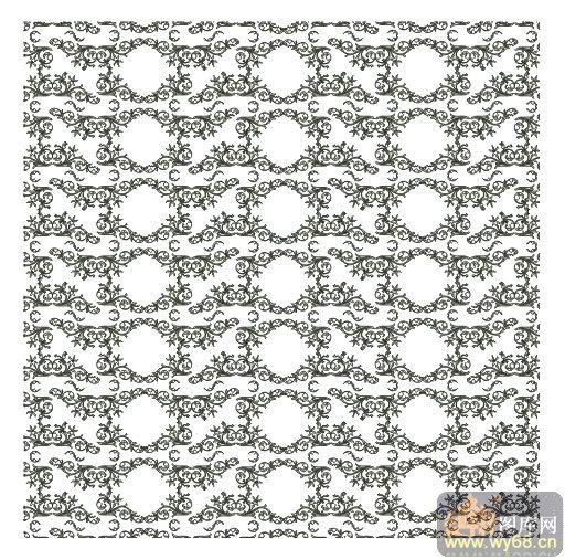 欧式抽象几何-细致藤蔓-00009-喷砂玻璃图